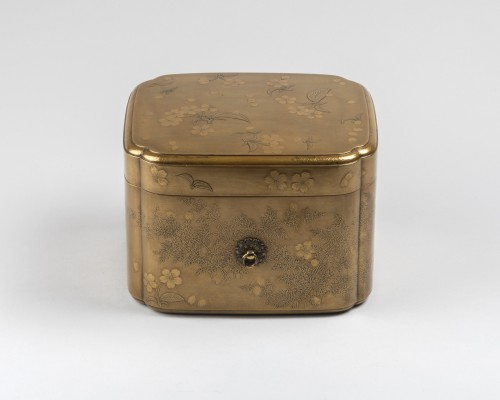 Rare lacquer box Tebako gold lacquer. M. et H. Dean. Japan Edo late 17th - Asian Works of Art Style