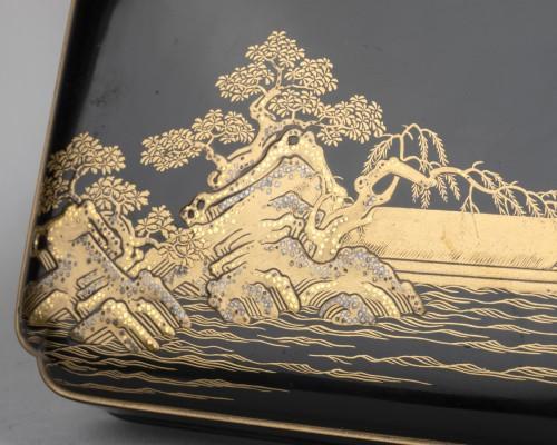 Asian Works of Art  - Lacquer Chabako  - Tea Ceremony Utensils Box, Japan Edo 17th