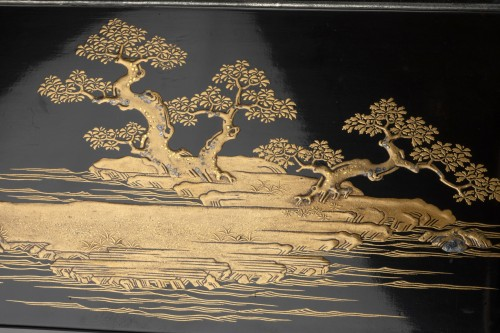 17th century - Lacquer Chabako  - Tea Ceremony Utensils Box, Japan Edo 17th