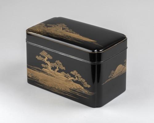 Antiquités - Lacquer Chabako  - Tea Ceremony Utensils Box, Japan Edo 17th