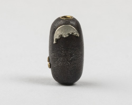Cylindrical ojime with fruits and mice & rabbit and moon, Japan Edo 19th century -