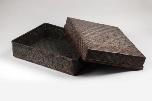Smoked bamboo box, Japan Meiji 20th century - Asian Works of Art Style