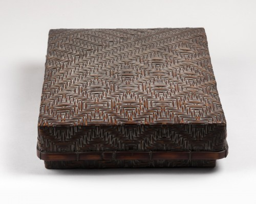 Smoked bamboo box, Japan Meiji 20th century -