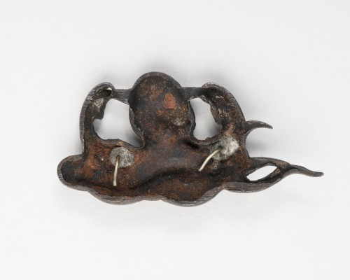 2 Menuki : octopus and fish, Japan Edo 19th siècle -