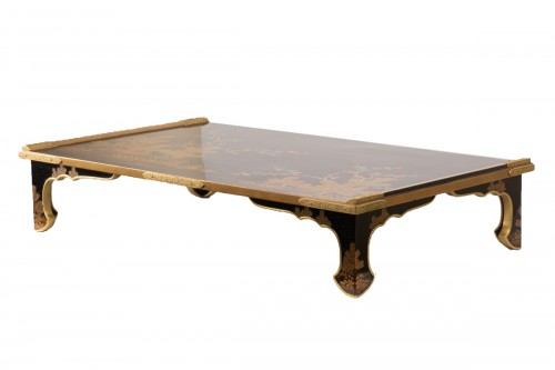 Bundaï table with four trefoil feet Japan Edo 19th century