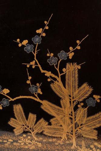 Bundaï table with four trefoil feet Japan Edo 19th century -