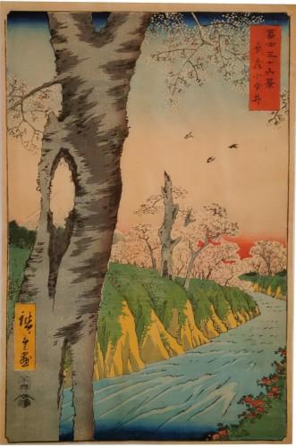 Hiroshige Ando (1797-1858) - Koganei in Musashi Province Woodblock print