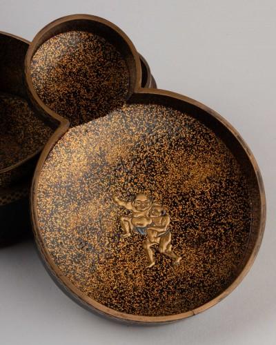 Kobako - Japanese urushi lacquer box. Japan Edo 17th century -