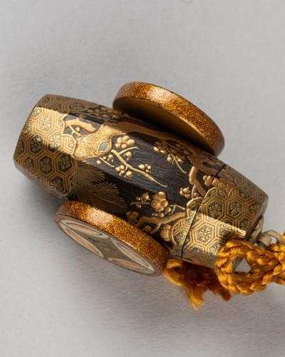 18th century - Netsuke - Buriburi, Japan Edo 18th century