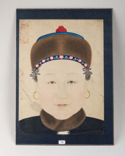 Asian Works of Art  - Portrait of a Chinese noble woman