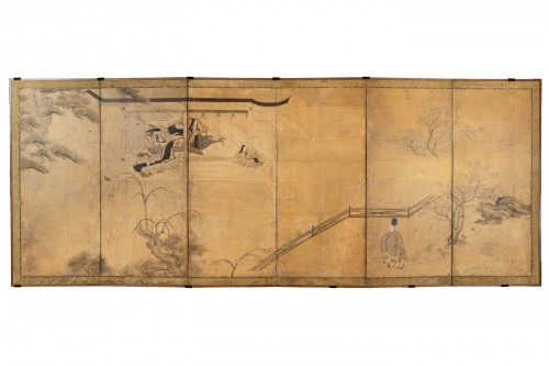 Six-fold screen, Japan Edo