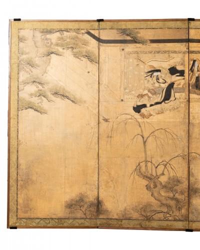 Six-fold screen, Japan Edo - Asian Works of Art Style