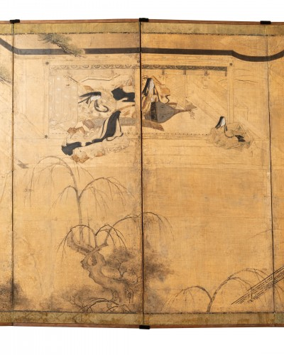 Asian Works of Art  - Six-fold screen, Japan Edo