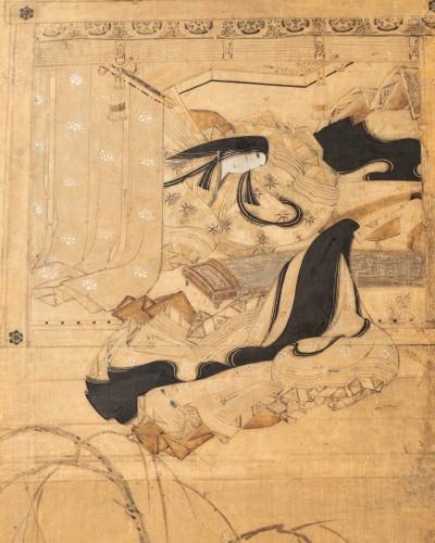 - Six-fold screen, Japan Edo