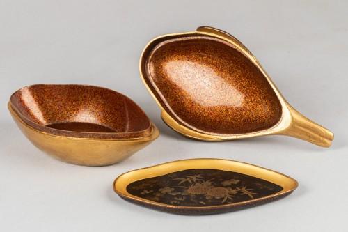 Antiquités - KÔGÔ – Duck shaped lacquer box, Japan Edo