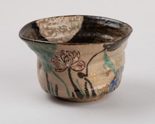 Tea Bowl (chawan) Inscribed Kenzan, Rinpa School, Japan Edo 19th