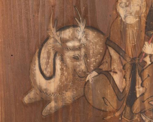 Ita-e Painting on a wood panel. Japan Edo -