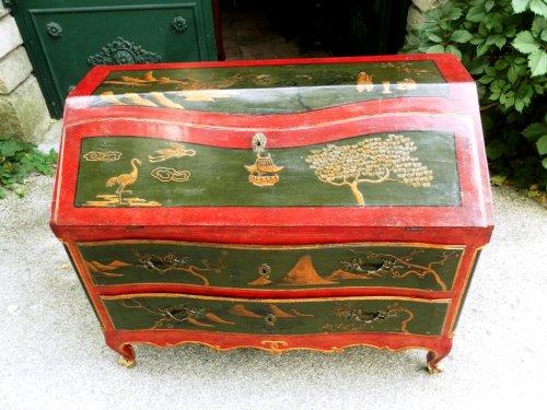Furniture  - Commode scribanne 18th century Vernis Martin