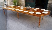 Louis Philippe Banquet table in walnut