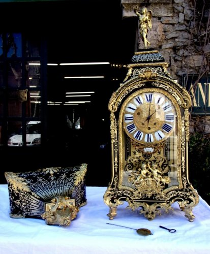 "18th C French Boulle marquetry clock ""Cartel"""
