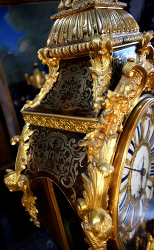 Antiquités - 18th C Cartel Boulle marquetry clock in gilt bronze