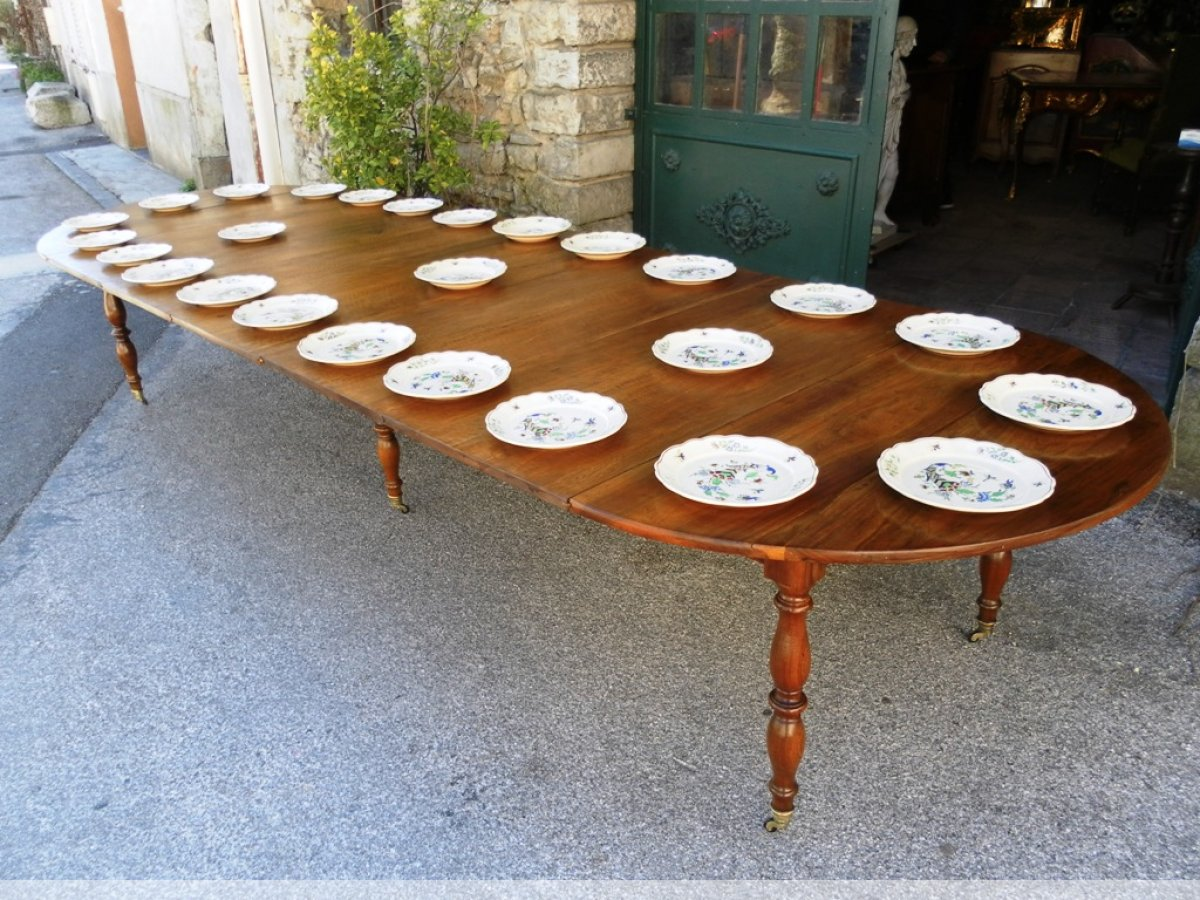 Table de banquet pieds jacob en noyer xixe si cle n for Table noyer 6 pieds