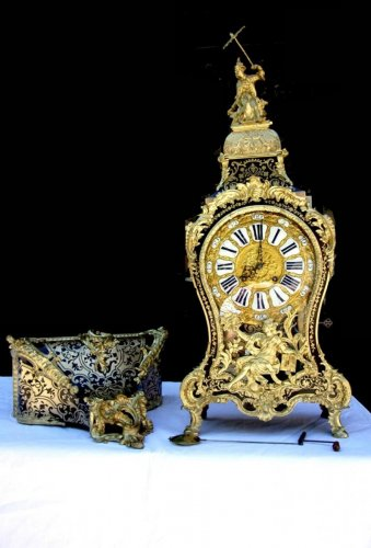"18th ""Chinese"" Boulle marquetry clock by Antoine Foullet'"