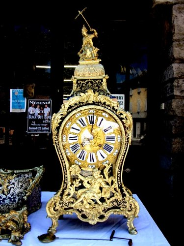 "Clocks  - 18th ""Chinese"" Boulle marquetry clock by Antoine Foullet'"