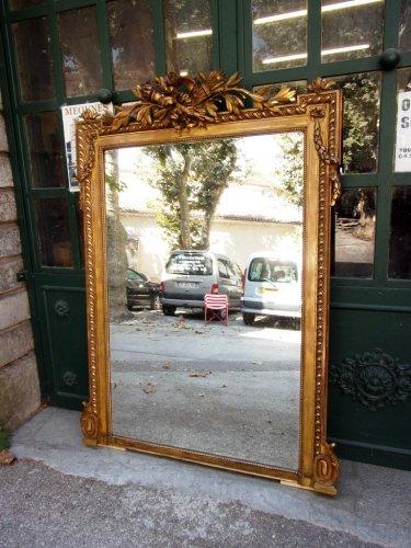 Miroir ancien glace miroir et trumeau antiquit s for Miroir napoleon