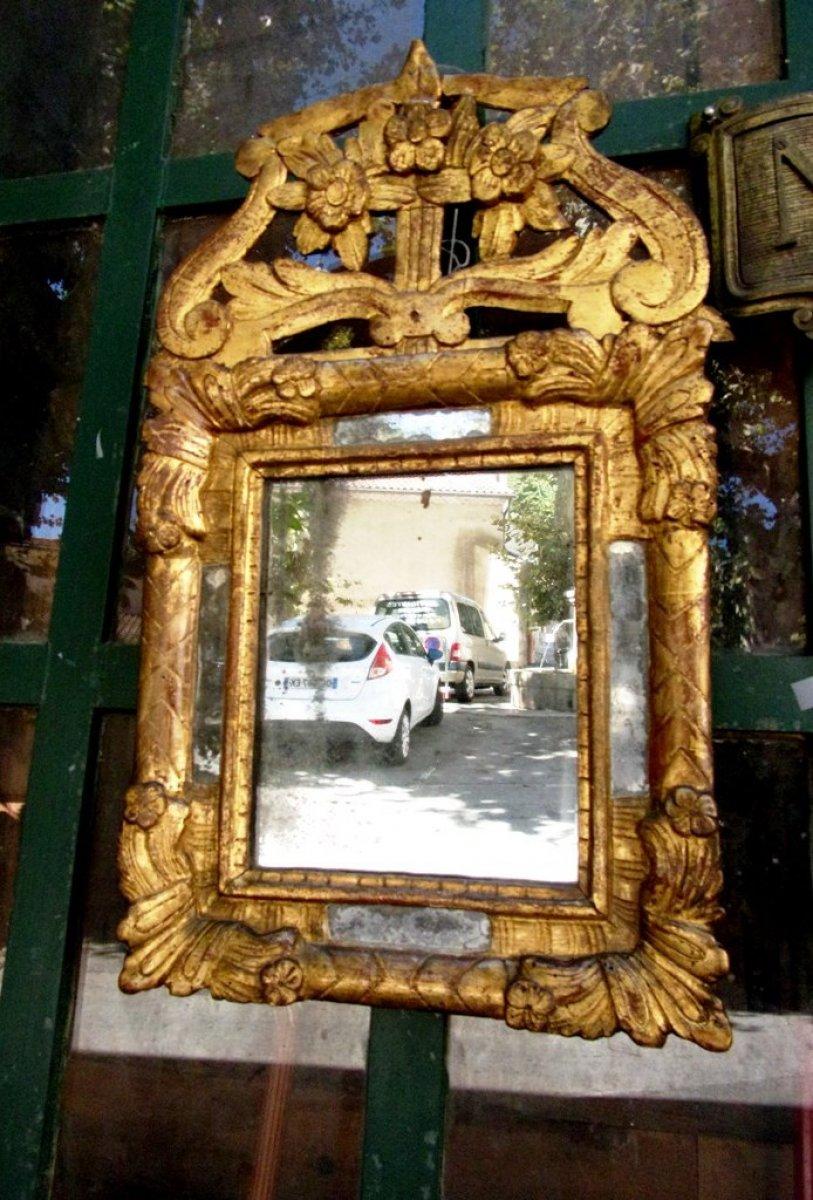 Miroir louis xiv pare closes en bois dor xviiie for Miroir louis xiv
