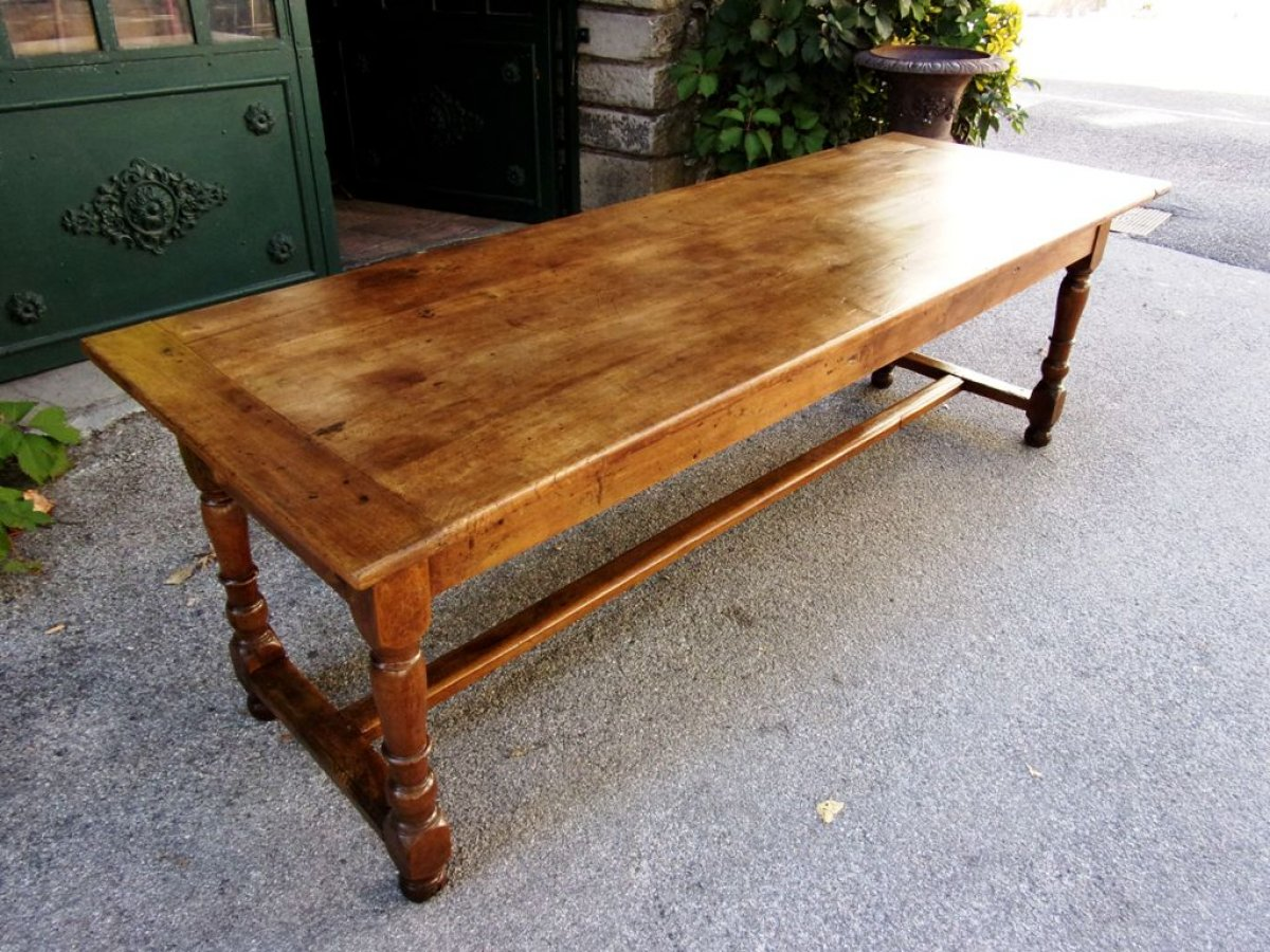 Table de ferme ancienne noyer table de lit for Table ancienne de ferme