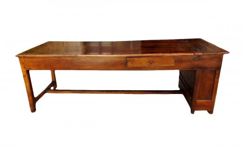 18th C farmhouse table in oak with bread compartment