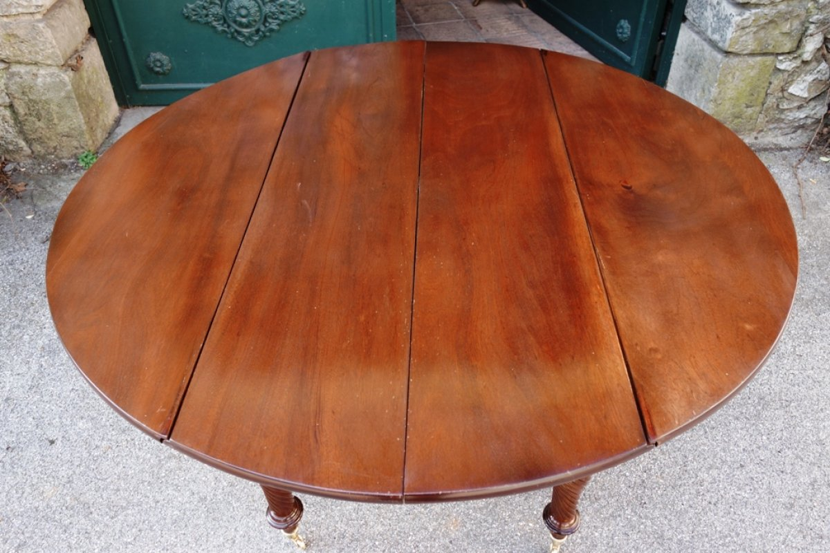 table de banquet en acajou poque restauration xixe si cle. Black Bedroom Furniture Sets. Home Design Ideas
