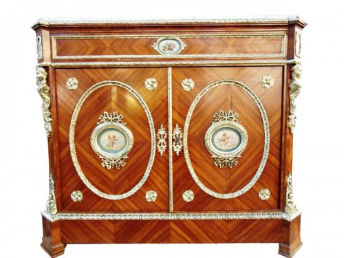 French Napoleon III period secretaire in marquetry