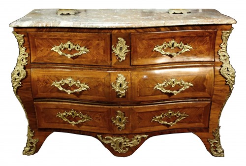 Commode tomb in marquetry of rosewood stamped Migeon, XVIIIth