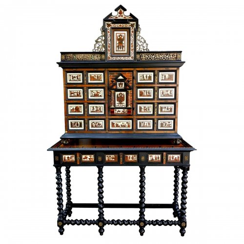 Cabinet in marquetry, XIXth
