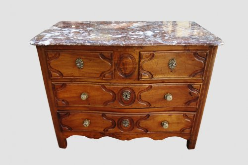 Commode parisienne stamped Fromageau, XVIIIe - Furniture Style