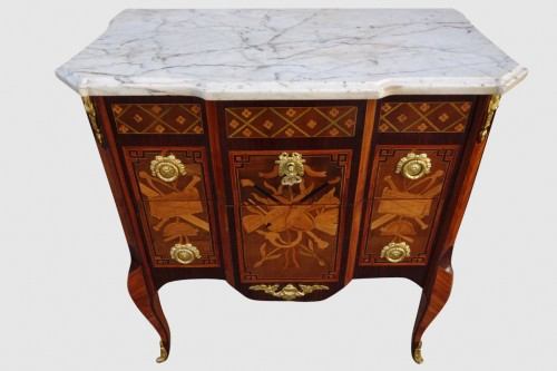 Antiquités - Commode d'époque Transition estampillée Malle