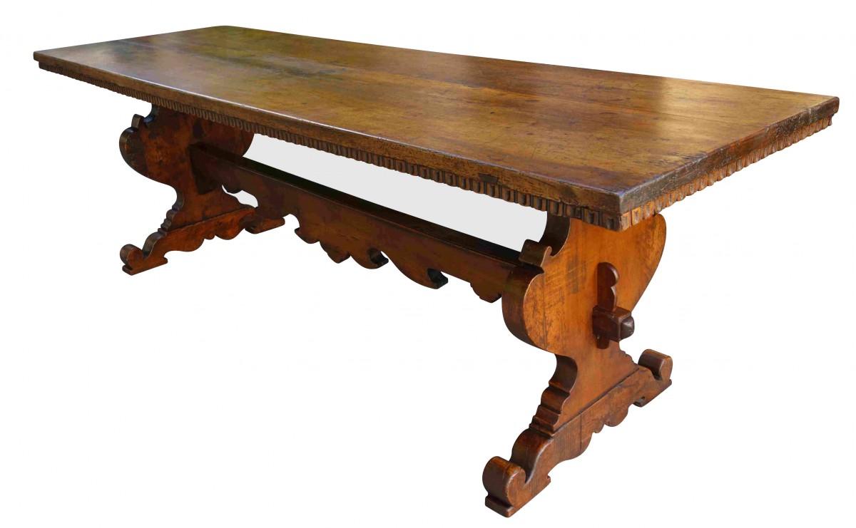 Grande Table Italienne D Abbaye En Noyer Xviie Siecle N 69566