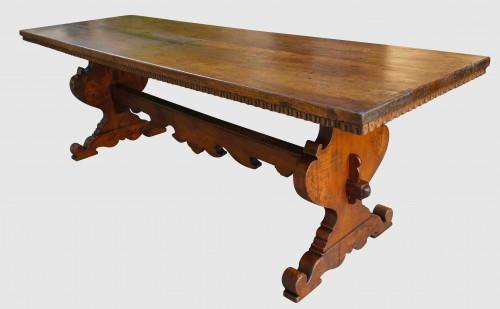 Furniture  - Large Italian abbey table in walnut