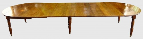 Antiquités - Large table with 6 Jacob Jacob walnut legs from Isère, Directoire period