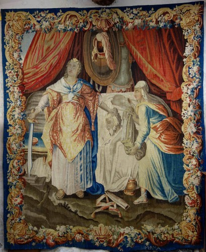 Aubusson tapestry: Judith and Holofernes, 17th century