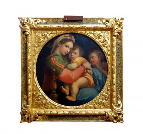 Tondo Madonna della Sedia according to Raphael