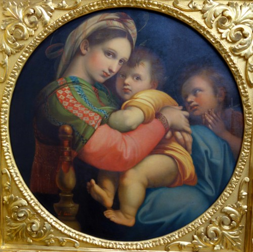 Paintings & Drawings  - Tondo Madonna della Sedia according to Raphael