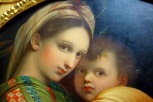 Tondo Madonna della Sedia according to Raphael -