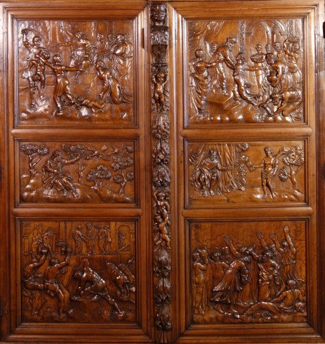 Furniture  - Languedoc Sumène cabinet of the seventeenth century - History of Solomon