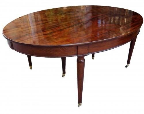 """Important """"Cuba mahogany"""" banquet table"""