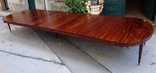 """Important """"Cuba mahogany"""" banquet table  - Directoire"""