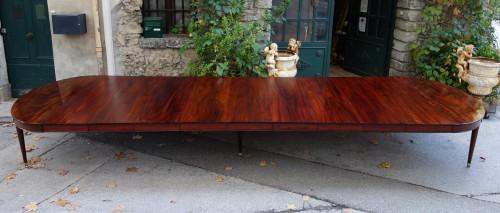 """Directoire - Important """"Cuba mahogany"""" banquet table"""