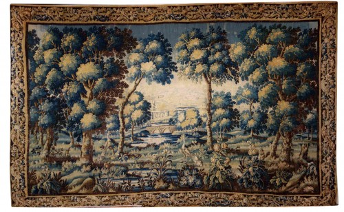 Large Aubusson Tapestry - Verdure with peacocks, 450 cm, 18th century